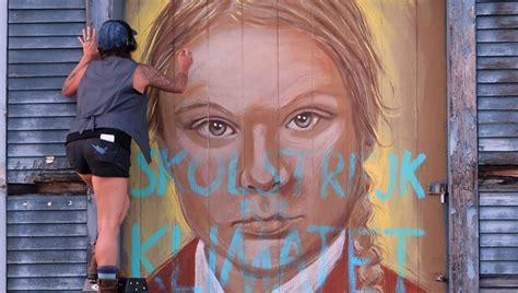 greta thunberg mural vandalized local artist cries