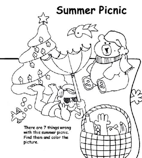 summer picnic coloring page crayolacom