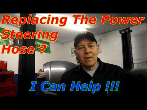 replace  high pressure power steering hose youtube
