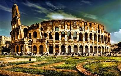 Rome Italy Colosseum Wonder Wonders Amphitheatre Wallpapers