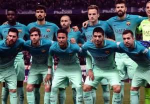 Team Barcelona Line Up