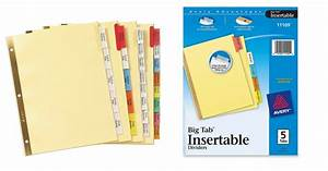 avery big tab insertable dividers fabulessly frugal With avery big tab insertable dividers template