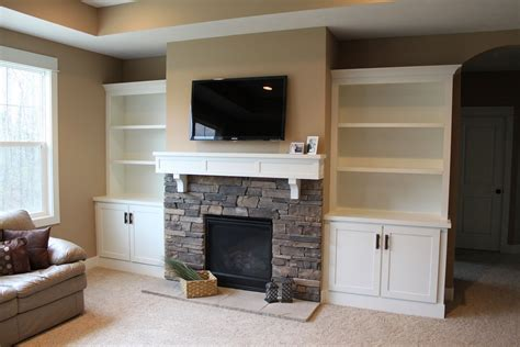 gas fireplace with built in cabinets built in bookcases ideas for small space