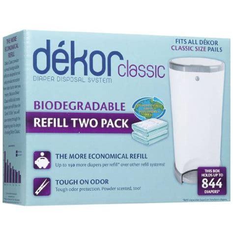dekor xl refills diaper dekor refills biodegradable 2 pack regular