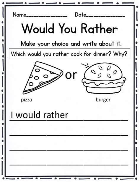 opinion persuasive writing for grade kindergarten through