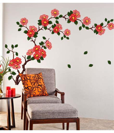 Wall Stickers For Living Room Flipkart by Stickerskart Multicolor Floral Branch Sofa Living Room