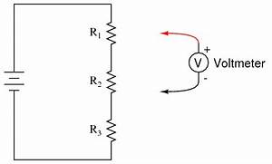 voltage divider dc circuits electronics textbook With potential change in a series circuit