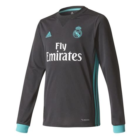 maillot junior ronaldo real madrid ext 233 rieur manches longues 2017 18 sur foot fr