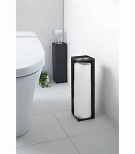 Rangement Papier Wc : rangement stock rouleaux papier toilette noir ~ Teatrodelosmanantiales.com Idées de Décoration