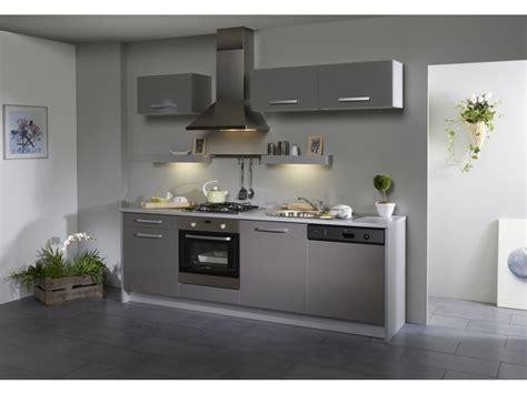 pack cuisine 7 meubles dinah extension lave vaisselle gris brillant