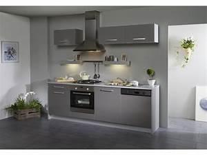 pack cuisine 7 meubles dinah extension lave vaisselle With sol gris quelle couleur pour les murs 1 avec quelle couleur associer le gris plus de 40 exemples