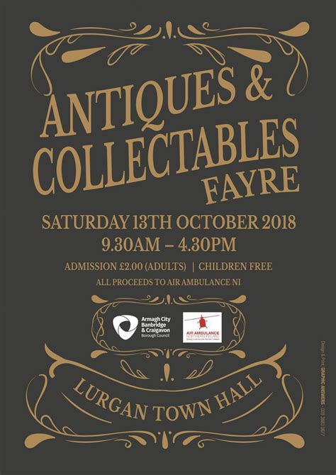 antiques  collectables fair  lurgan town hall
