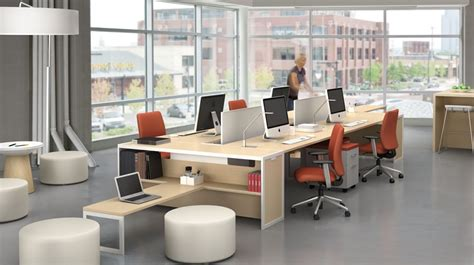 steelcase bureau tour bench collaborative office tables workspaces