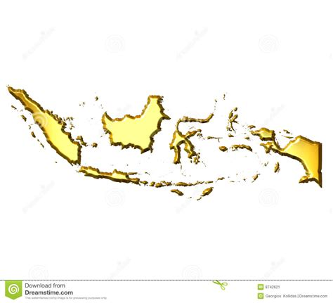 indonesia  golden map stock image image