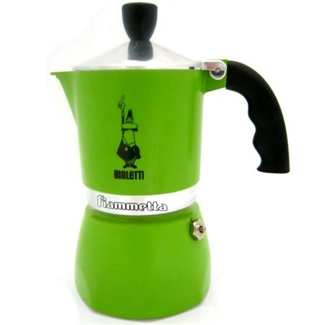 buy green espresso moka pot bialetti fiammetta 3 cup italian shop uk