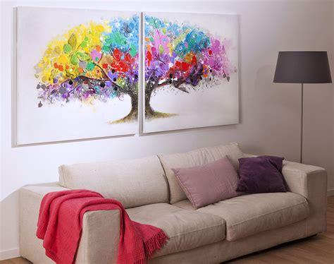 rideau de chambre tableau arbre multicolore becquet