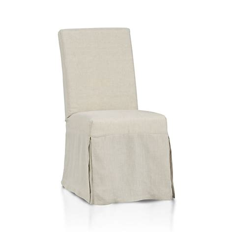 linen slipcover chair slip side chair with linen slipcover crate and barrel