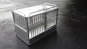 handmade custom aluminum k 9 crate by little enterprises With custom dog crates for home