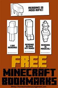 free minecraft printables for reading bookmarks reading With minecraft bookmark template