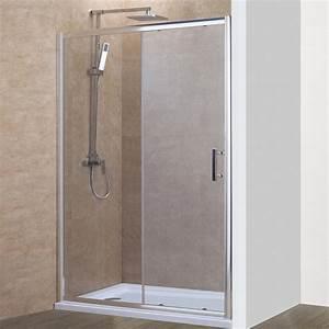 porte de douche coulissante nerina 160 cm 6mm With porte coulissante douche 160
