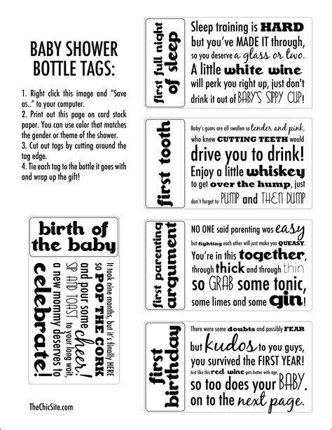 baby shower gift tags  chic site