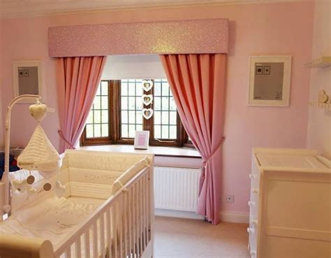Beautiful Girly Nursery Curtains. Pink Glitter Pelmet And Pink Sateen Pinch Pleat Curtains, Rope Plastic Drop Down Curtains Curtain Rod Wooden Finials Standard Width Sizes Uk Extended Length Panels Rose Gold And Purple Easy Blackout Diy Designs For Big Windows How Much Fabric Do I Need To Make Calculator