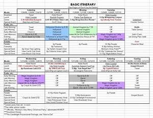 Basic 2019 December Disney World Itinerary