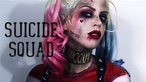Harley Quinn (Suicide Squad) Makeup & Painted Costume ...