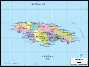 Large Political Map of Jamaica Jamaica