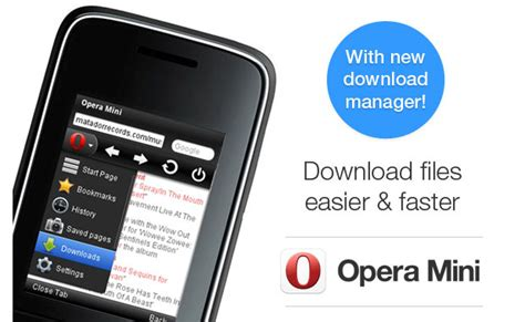 Opera mini and opera mini next have been very popular with nokia symbian, google android and even microsoft windows mobile smart phone and devices. Opera Mini for BlackBerry and feature phones catches up with download manager update
