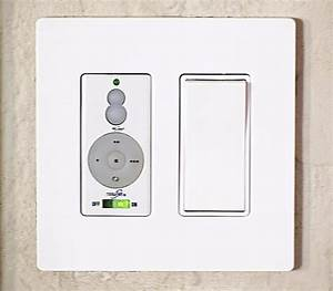 Remote ceiling light switch with honeywell wall mounted