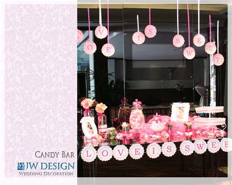jw design wedding decoration candy bar