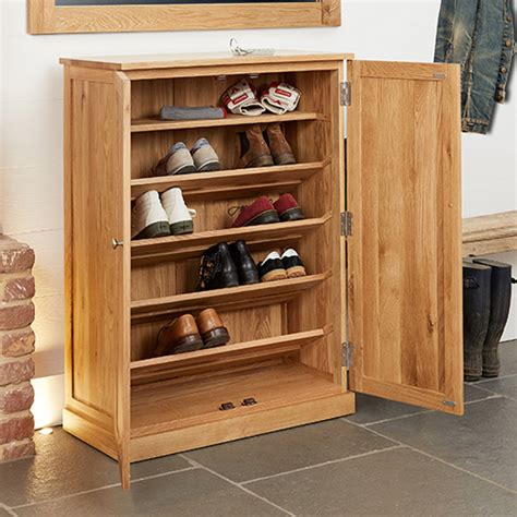 Images Of Shoe Racks Cabinets by Large Oak Shoe Storage Cupboard Mobel Baumhaus Shoe