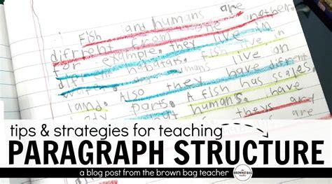 paragraph writing  st   grade  brown bag teacher