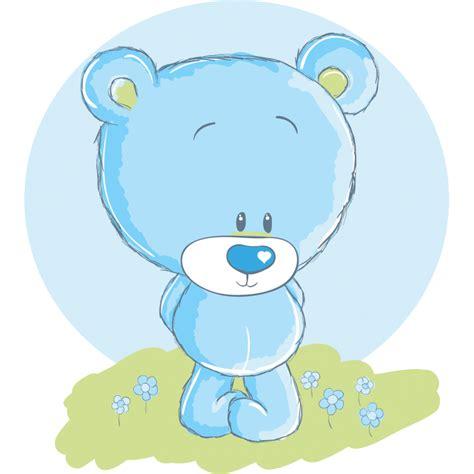 stickers nounours pour chambre bébé stickers nounours bleu stickers ourson chambre bébé