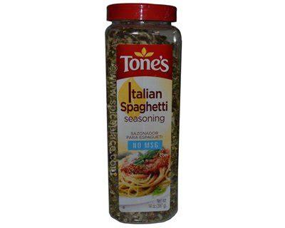 Tones Spice Rack by Tones Italian Spaghetti Seasoning 14oz 397g 11 96usd
