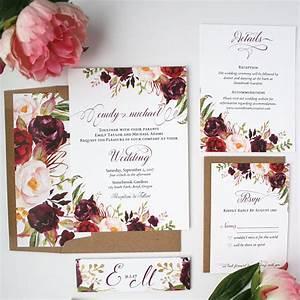 Burgundy wedding invitations burgundy blush wedding for Burgundy wedding invitations online