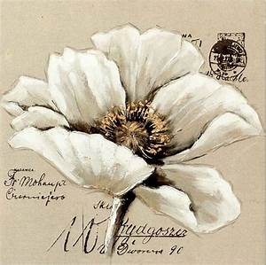 Toile Blanche A Peindre : peinture acrylique au couteau fleurs recherche google ~ Premium-room.com Idées de Décoration