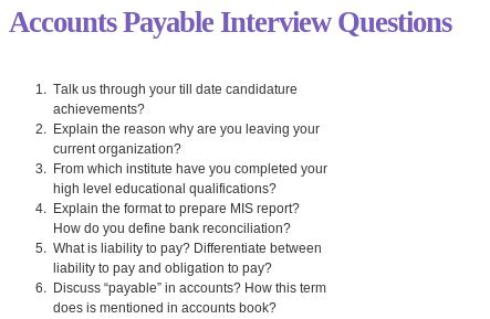 Accounts Payable Questions And Answers For by Pin By Questions On Accounting
