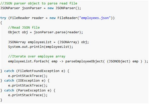 Json.simple Read Json Example