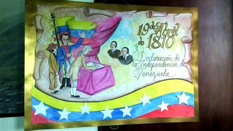 cartelera escolar  de abril de  primer paso independentista venezuela carteleras