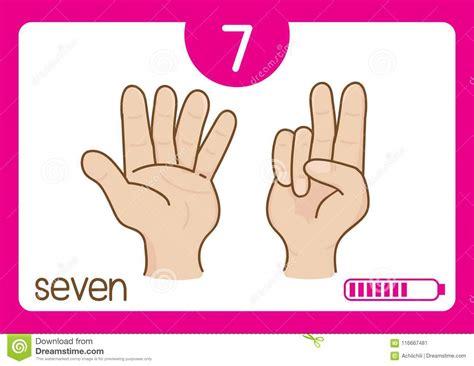 Flashcard Number Seven Stock Vector. Illustration Of Kids