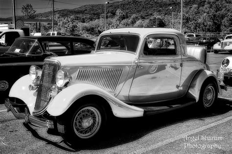 Old Car In Black And White