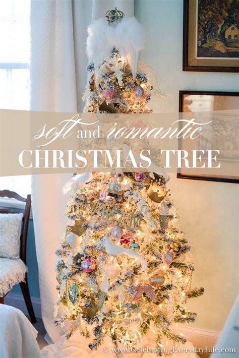 soft romantic christmas tree celebrating everyday