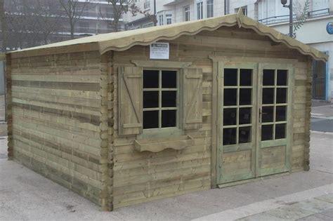 abri de jardin traite abri de jardin trait 233 autoclave de16 m en madriers 28 mm