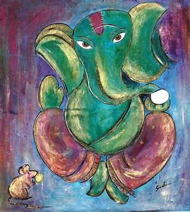 lord ganesha painting,acrylic on canvas | Vinayaka ...