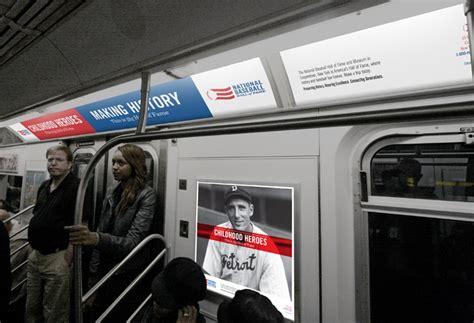 Subway Ad Mockup Baseball Of Fame Rebrand Rob Bratney Graphic Designer
