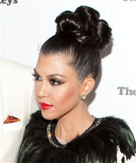 kourtney kardashian formal long curly updo hairstyle