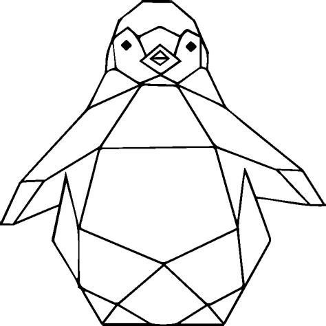 stickers animaux chambre bébé sticker origami pingouin stickers et design