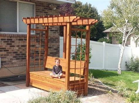 Arbor With Bench by How To Build An Arbor Bench For Your Garden Diy Projects